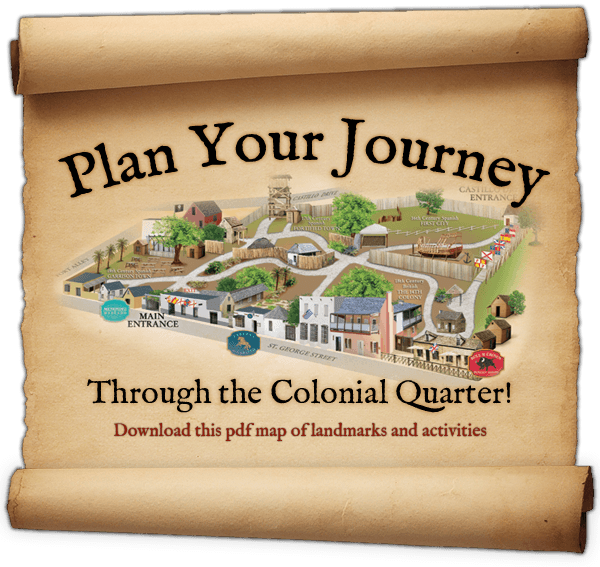 Colonial Quarter – St Augustine Tourist Attractions Map